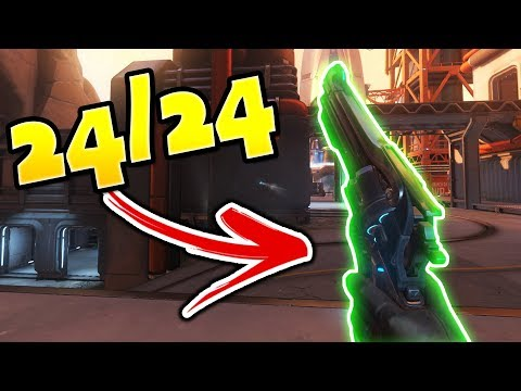 He Hit 24 Out Of 24 Shots!! - Overwatch Perfect Aim Montage
