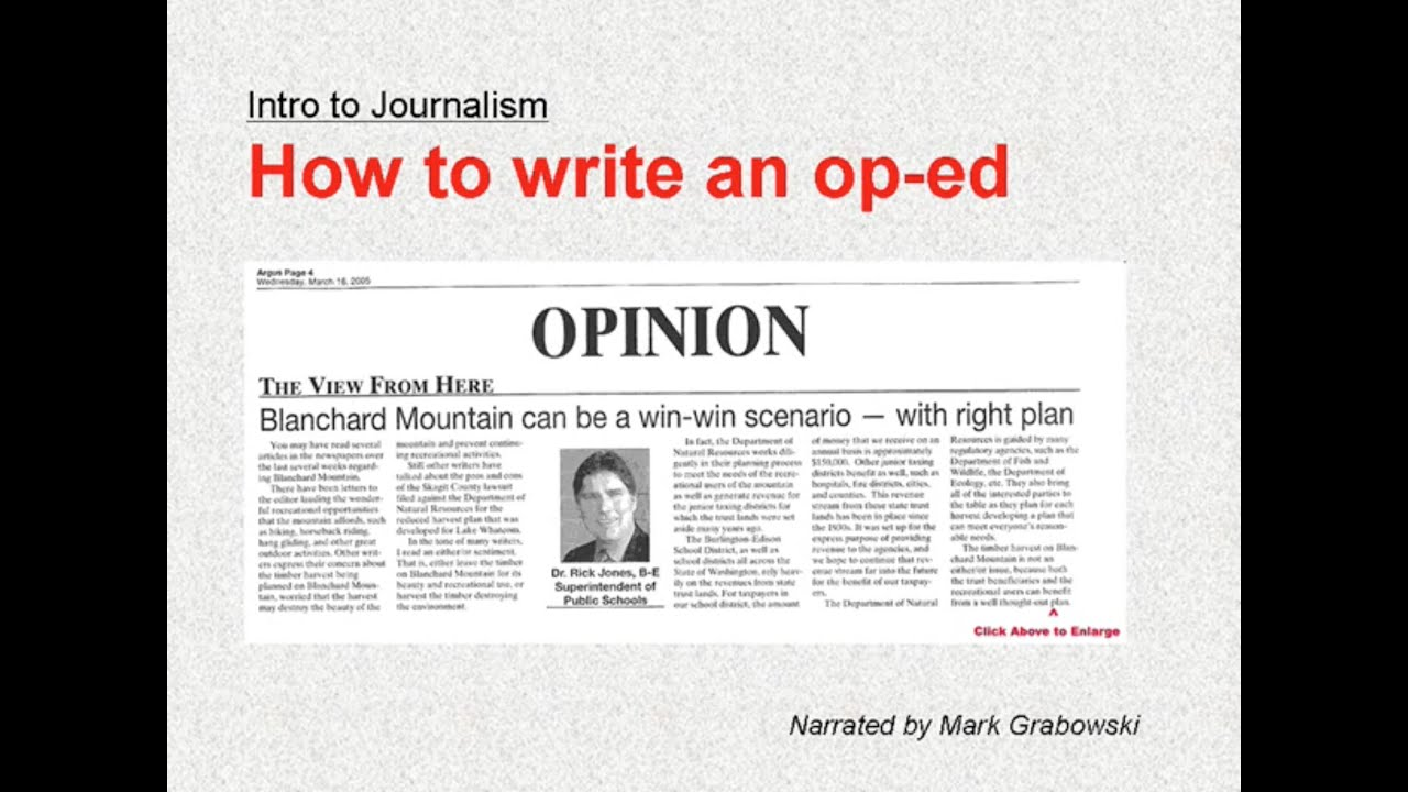 How to write an op-ed or column