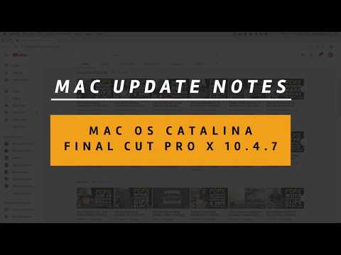 Don't Get Caught Out By MacOS Catalina & Final Cut Pro X Updates - Avoid Upgrade Problems