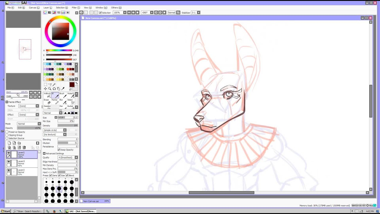 how to draw anubis tutorial