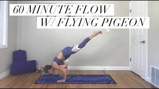 Video 60 Minute Yoga - Intermediate Flow with Arm Balances for Strength and Flexibility download MP3, 3GP, MP4, WEBM, AVI, FLV Maret 2018