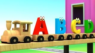 Learn Alphabet Train Song - 3D Animation Alphabet ABC Train song for children
