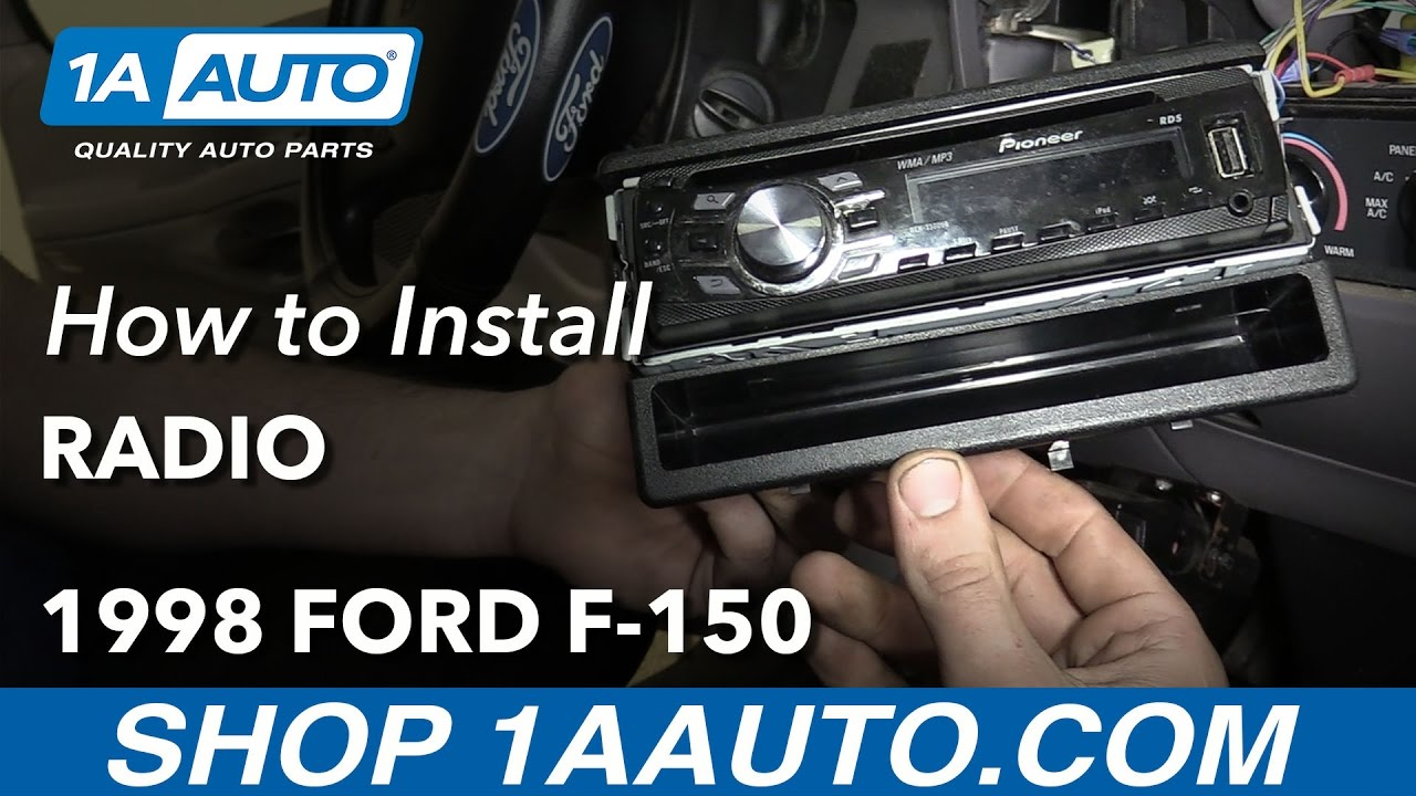 How To Install Replace Radio 1998 Ford F 150 No Special Tools Location 2002 Stereo Wiring Diagram Ground Required