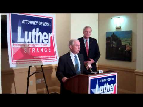 Senator Jeff Sessions Endorses Attorney General Luther Strange