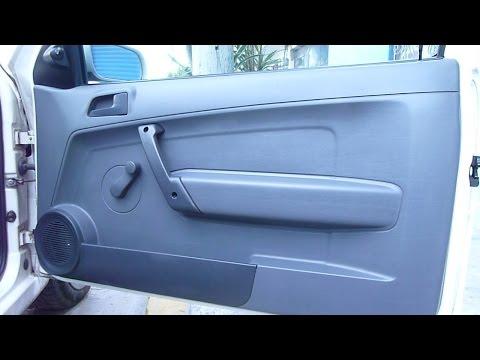 Como desmontar o quitar panel interior de puerta de pointer / gol 08