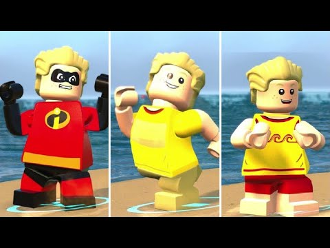 All Dash Costumes In LEGO The Incredibles (DLC Included)