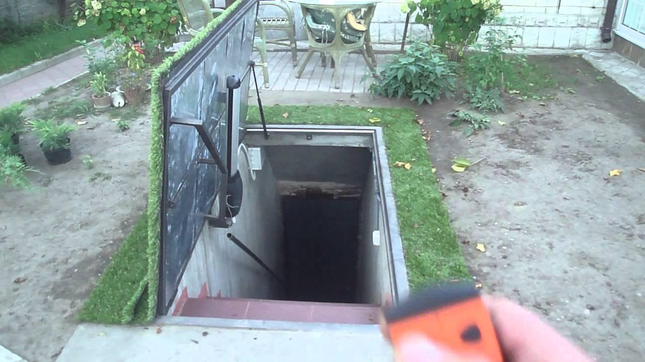 Автоматический люк в подвал видео