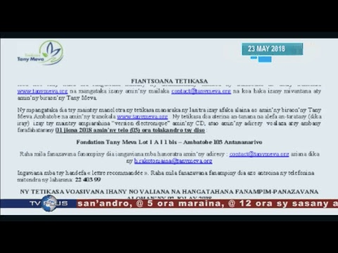 LIVE DU 23 MAI 2018 BY TV PLUS MADAGASCAR (VM)