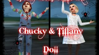 The Sims 4 | Spooky Group Collab | CAS | Chucky & Tiffany Doll