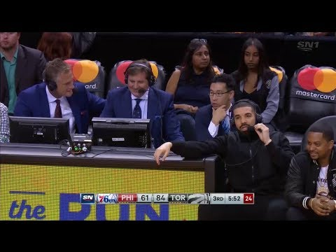 Drake Joins the Raptors Broadcast - October 21, 2017