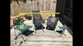 Motorcycle Camping Chairs REVIEW