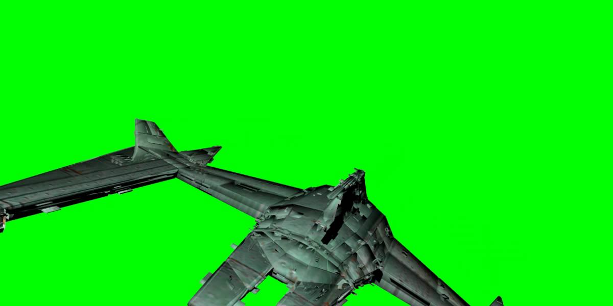 Free Spaceship Animated On Green Screen