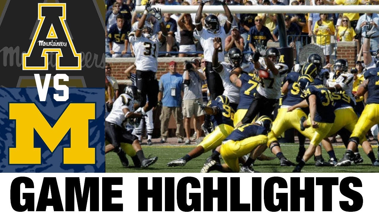 Appalachian State vs #5 Michigan | 2007 Game Highlights | 2000's Games of the Decade