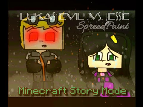 Speedpaint Minecraft Story Mode Lukas Evil Vs Jesse Youtube
