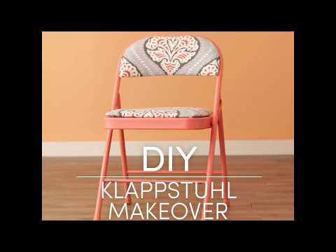 Video: Makeover Klappstühle || DIY-Deko
