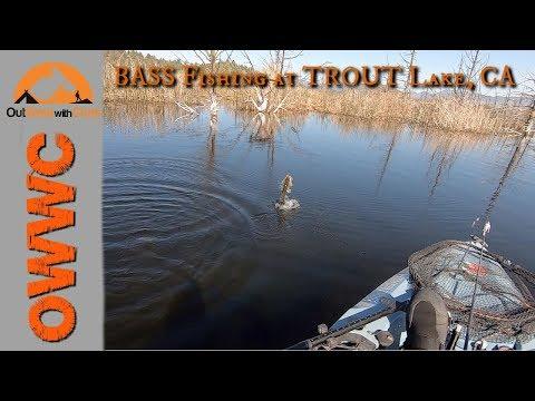 Bass Fishing At Trout Lake, CA