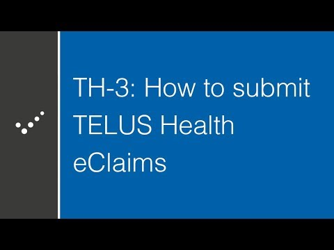 How To Submit TELUS Health EClaims In Practice Perfect (Part 3)