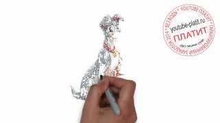 Нарисованные карандашом собаки  Как нарисовать двух собак из мультика