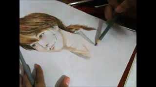 Himura Kenshin - Takeru Sato|佐藤 健 (Colored Traditional Speed Drawing)