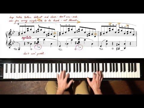 Chopin Ballade No.1 TUTORIAL - P. Barton, FEURICH piano