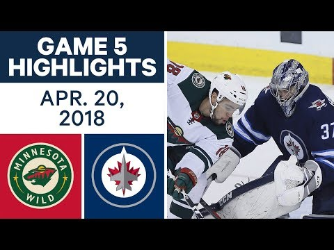 NHL Highlights | Wild vs. Jets, Game 5 - Apr. 20, 2018