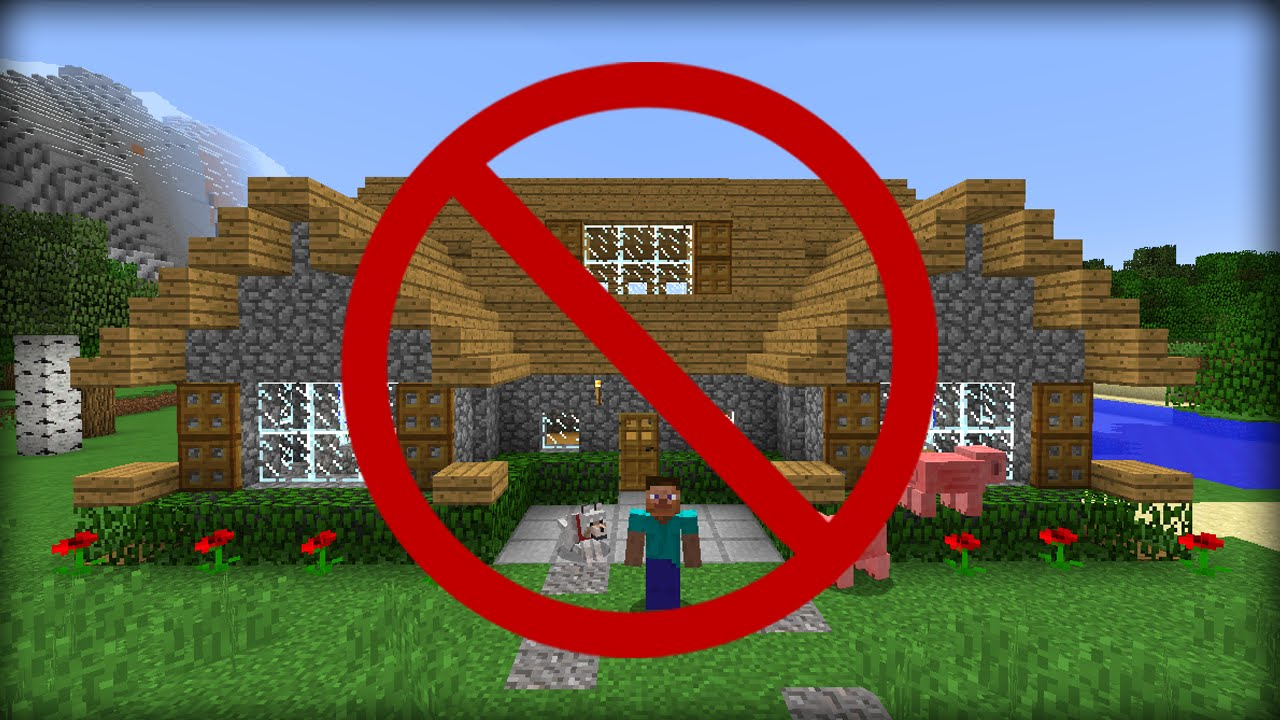 Minecraft  5 Ways To Hide Your House From Friends