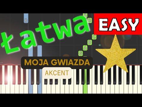 🎹 Moja Gwiazda (Akcent) - Piano Tutorial (łatwa wersja) 🎹
