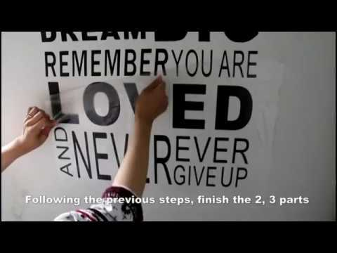 Delma Lous Installation of Have Hope Wall decal quotes