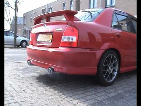 Mazda 323 Bj Protege Dual Stainless Steel Rvs Exhaust