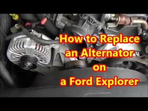 How To Replace An Alternator On A 2002 2010 Ford Explorer