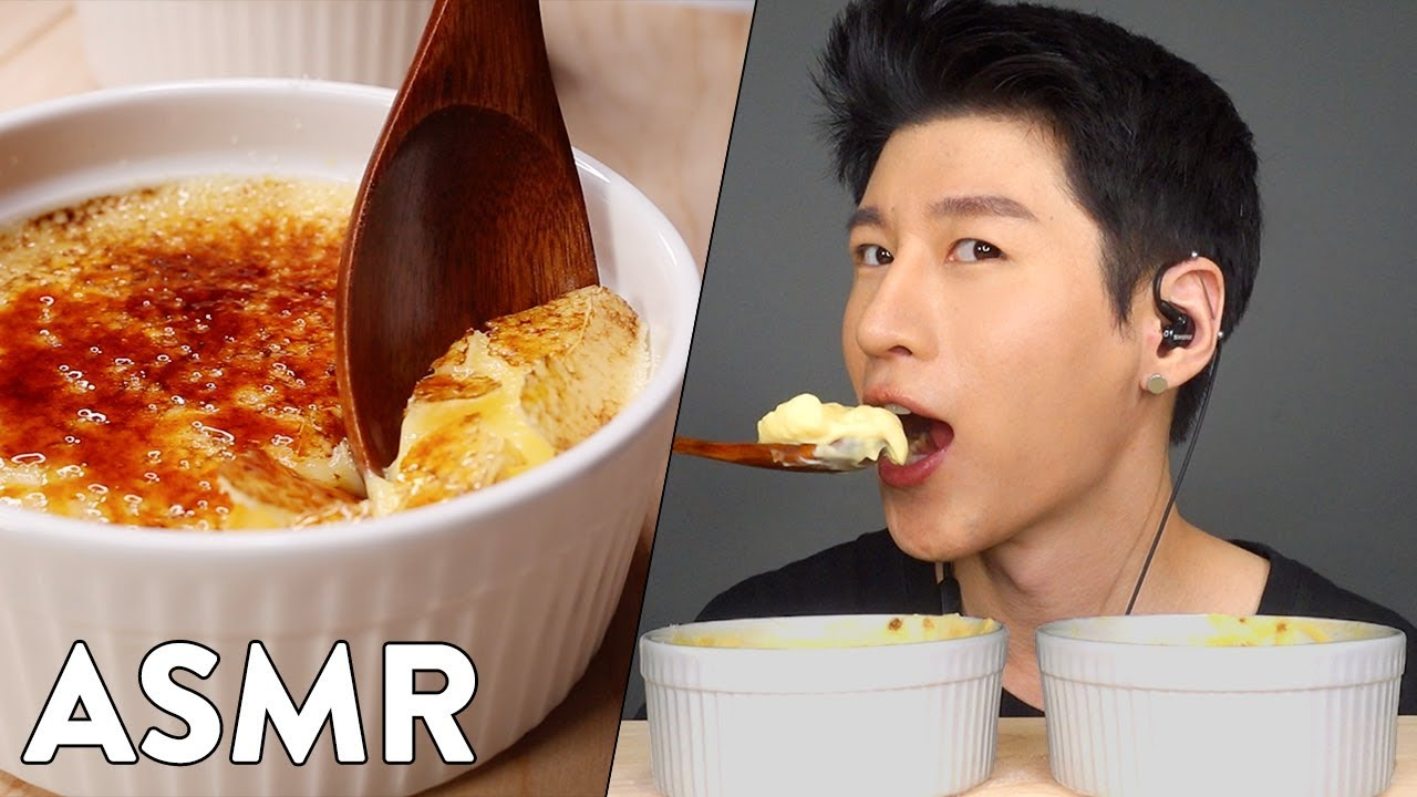 Asmr Cre Me Bru Le E Cook Enjoy No Talking Crunchy Eating Sounds Zach Choi Asmr