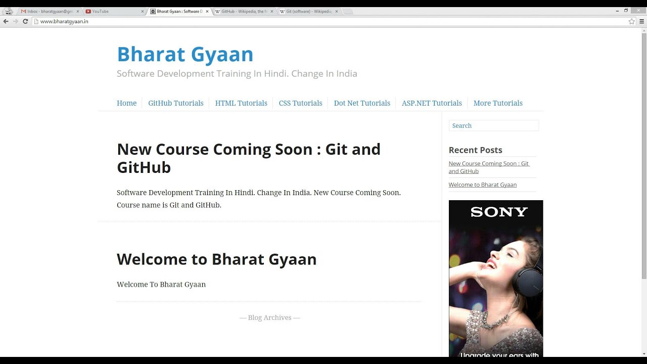 Git & Github Free Training in Hindi for Students and Professionals