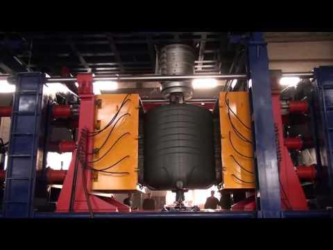 Water Tank Blow Molding Machine Youtube