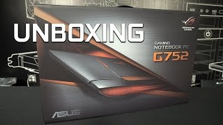 Unboxing! New ASUS ROG G752 gaming laptop with GeForce GTX 1070
