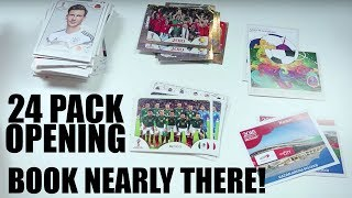 PANINI WORLD CUP RUSSIA 2018 STICKER ALBUM | OPENING 24 PACKS | BOOK ALMOST COMPLETE