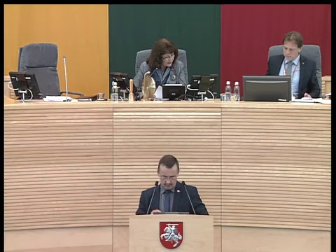 2017-05-25 Seimo rytinis posėdis Nr. 65