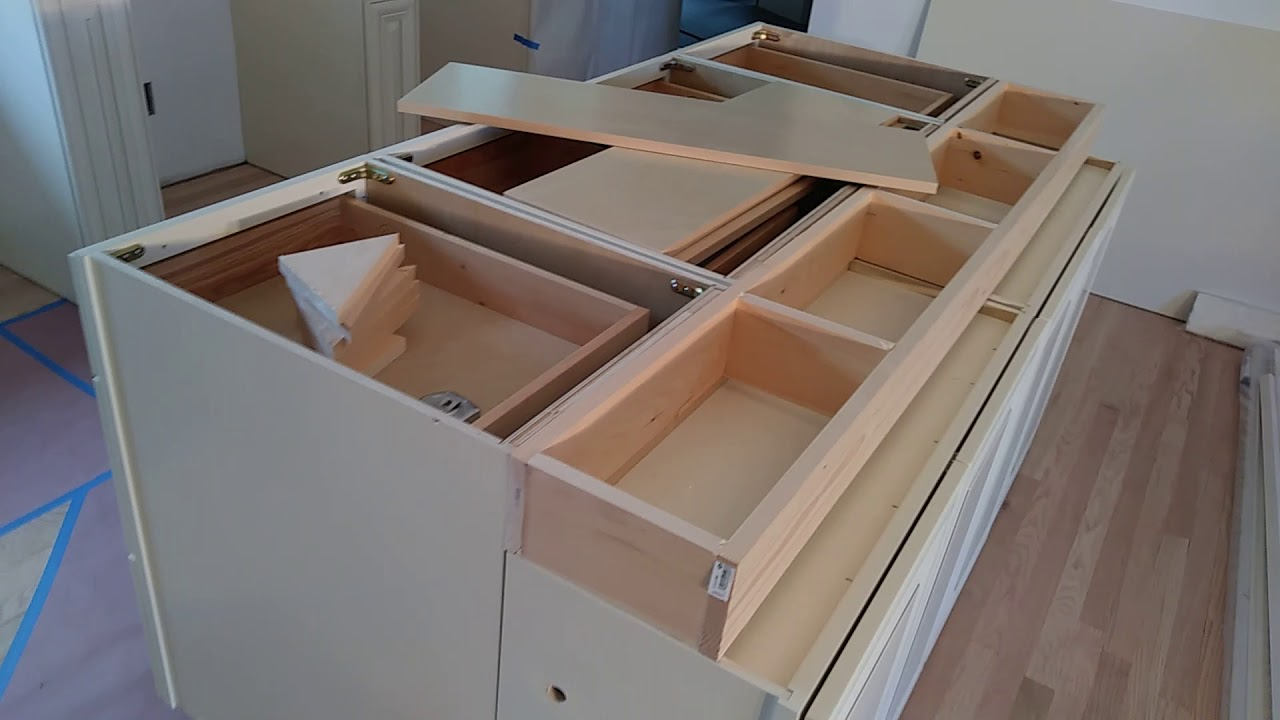 Building Kitchen Wall Cabinets Ventilation System How To Build And Make A Double Sided Island From Diy