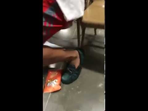 Football Player Goes Out of Way to Point Out Teammates Shoes