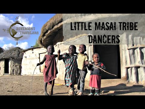 The Little Maasai ( Masai ) Children Tribe Dancers Singing, Dancing and Jumping