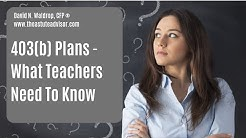 403b Plans And What Teachers Need To Know
