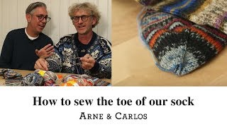 How to sew the toe of the easiest sock in the world by ARNE & CARLOS