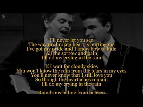 Crying In the Rain - Everly Brothers (Lyric video) [HQ]