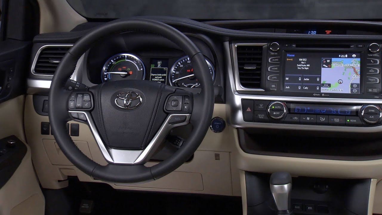 2014 toyota highlander hybrid interior youtube. Black Bedroom Furniture Sets. Home Design Ideas