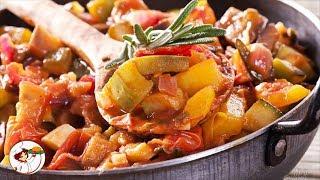 Овощное рагу с картофелем, кабачками и капустой. Вкусное и сытное блюдо!