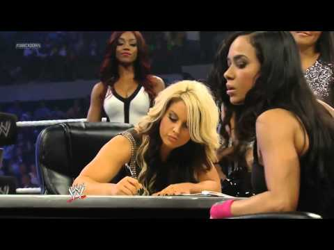 WWE Smackdown 07/12/13 Kaitlyn & AJ Lee Contract Signing