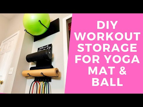 Workout Equipment Storage | Diy Gym Storage | Diy Yoga Ball Storage