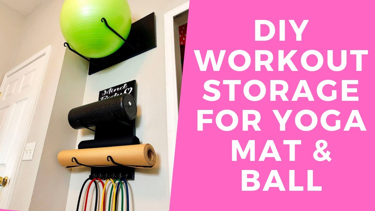Home gym hacks easy exercise storage small space gym storage