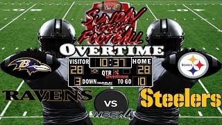 SNF Week 4 | Baltimore Ravens vs. Pittsburgh Steelers | SNF OVERTIME🏈🏈🏈 #LouieTeeLive