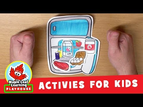 Refrigerator Activity for Kids | Maple Leaf Learning Playhouse