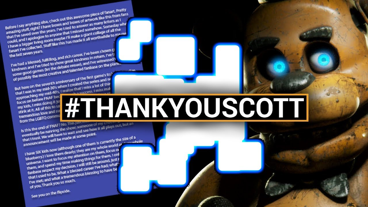 Why Scott Cawthon Is Retiring From 'Five Nights at Freddy's'
